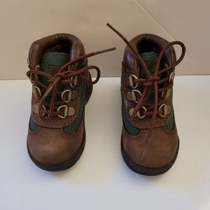 NWOT Brown and Green Timberland Toddler Boots 5